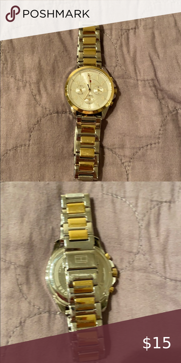 Tommy Hilfiger Silver And Gold Watch Tommy Hilfiger Watches Gold Watch Tommy Hilfiger