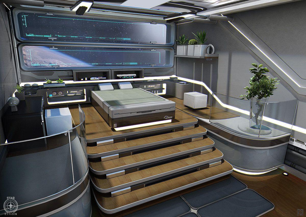 pingl par pauline sur futuristic interior star citizen. Black Bedroom Furniture Sets. Home Design Ideas