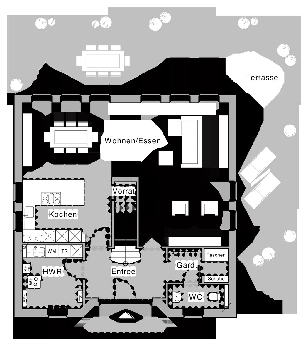 erdgeschoss haus pinterest cellier und sous escalier. Black Bedroom Furniture Sets. Home Design Ideas