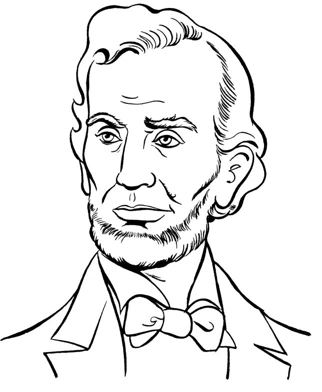 President Abraham Lincoln Coloring Pages - President Day cartoon ...