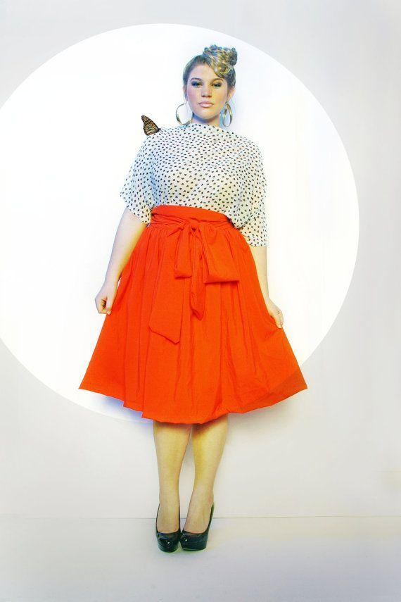 44ceb8fc8c5c7 JIBRI Plus Size High Waist Flare Skirt attached by jibrionline ...