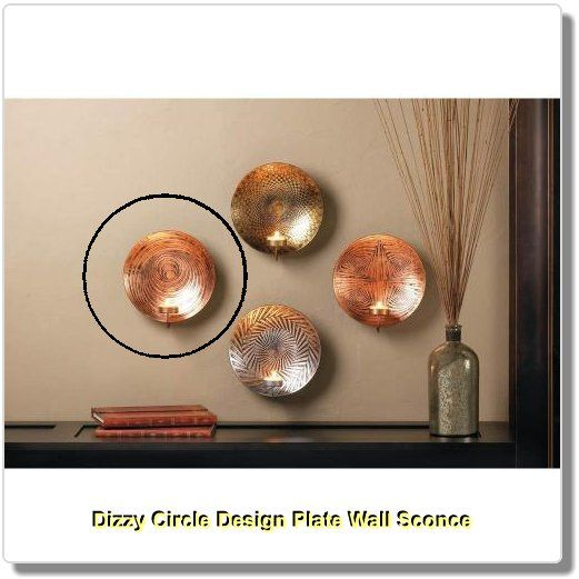 Wonderful Dizzy Circle Design Plate Wall Sconce   Modern Art Meets Timeless Glow To  Make A Stunning Great Ideas