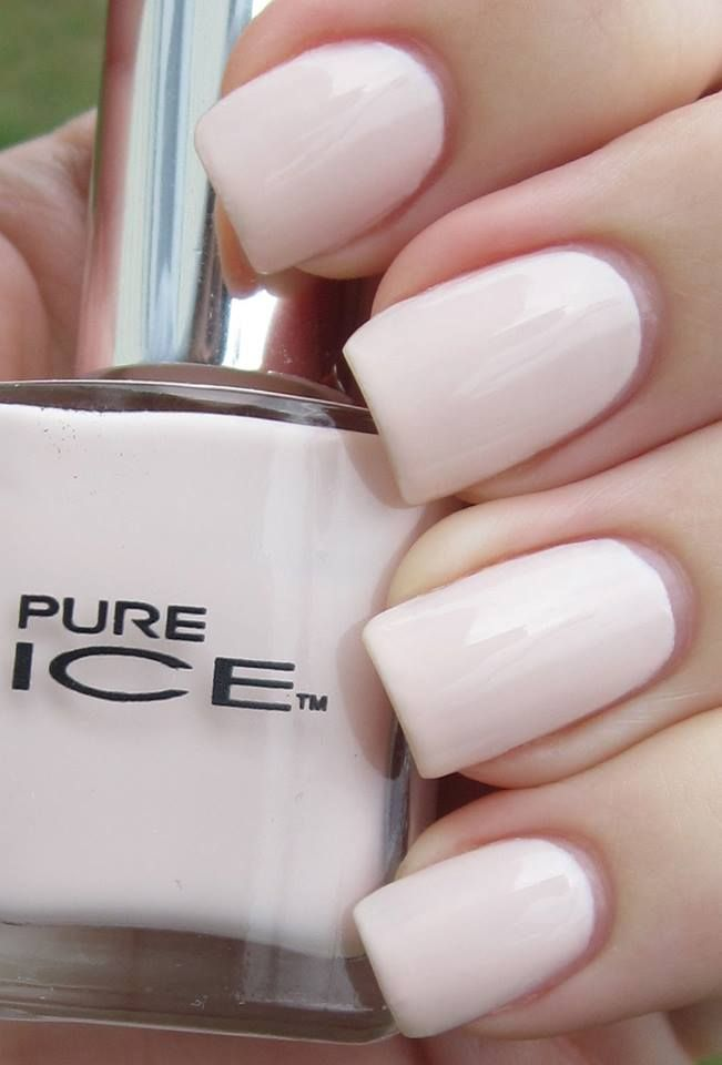 shell pink pure ice swatch