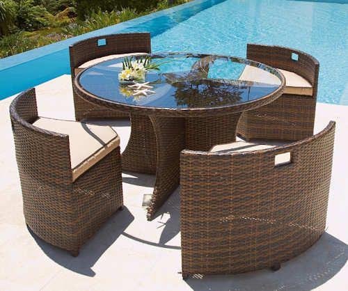 Como Garden Furniture Set The Como Garden Furniture Set Is A Stunning Set  Of Patio Furniture. Comprising Four Chairs And A Circular Table, The  Contemporary