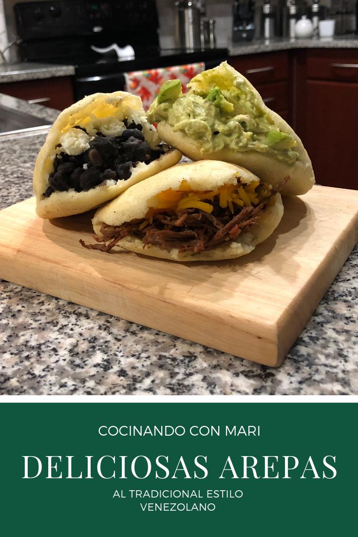 Deliciosas arepas al estilo tradicional venezolano