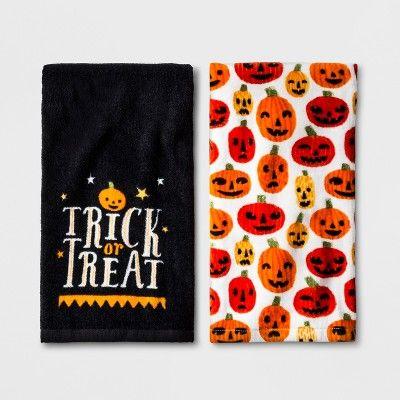 Halloween Pumpkins Hand Towel 2pk - Hyde and Eek! Boutique™  Target