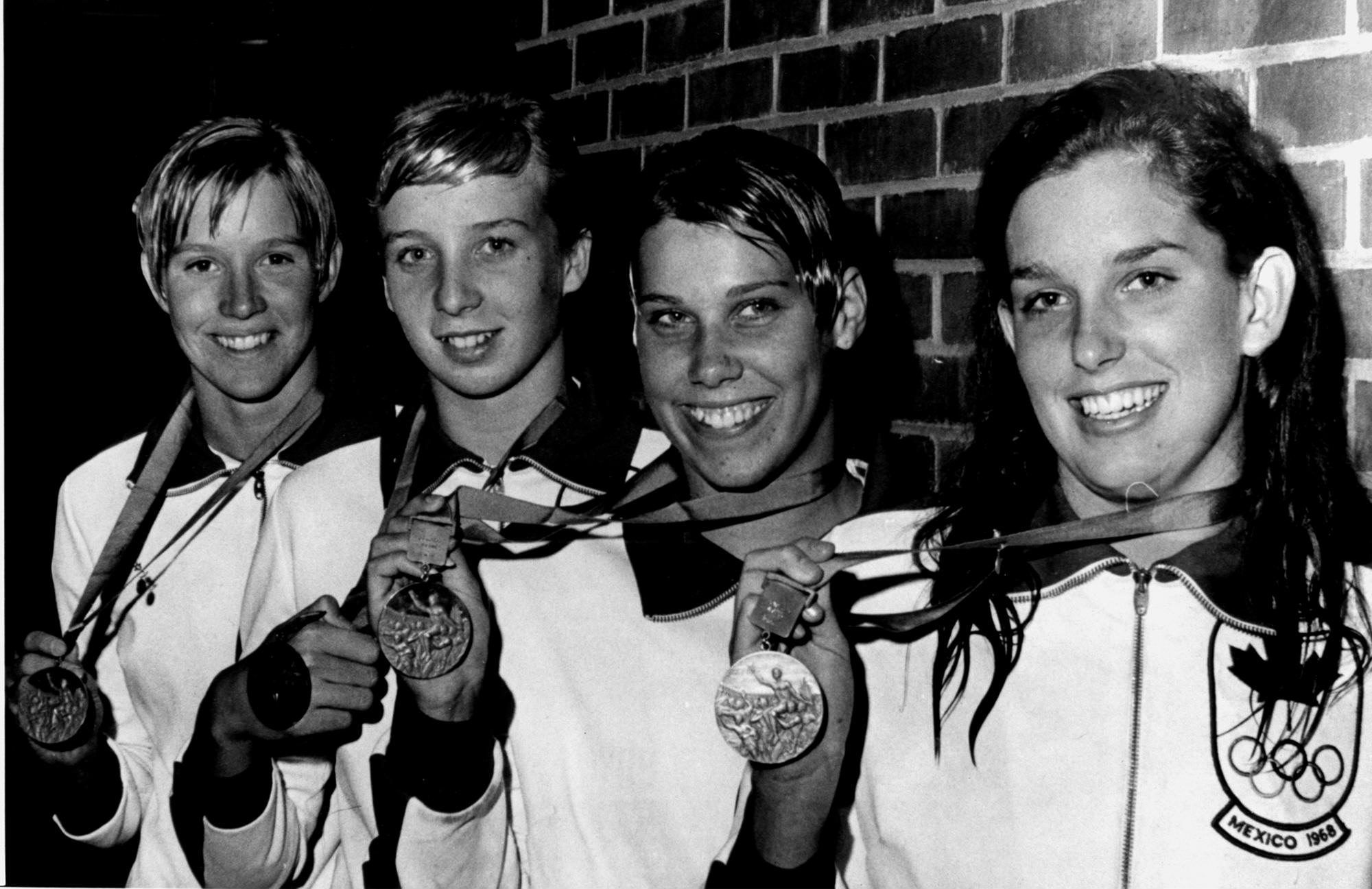 Image result for 1968 women's olympic swimming images