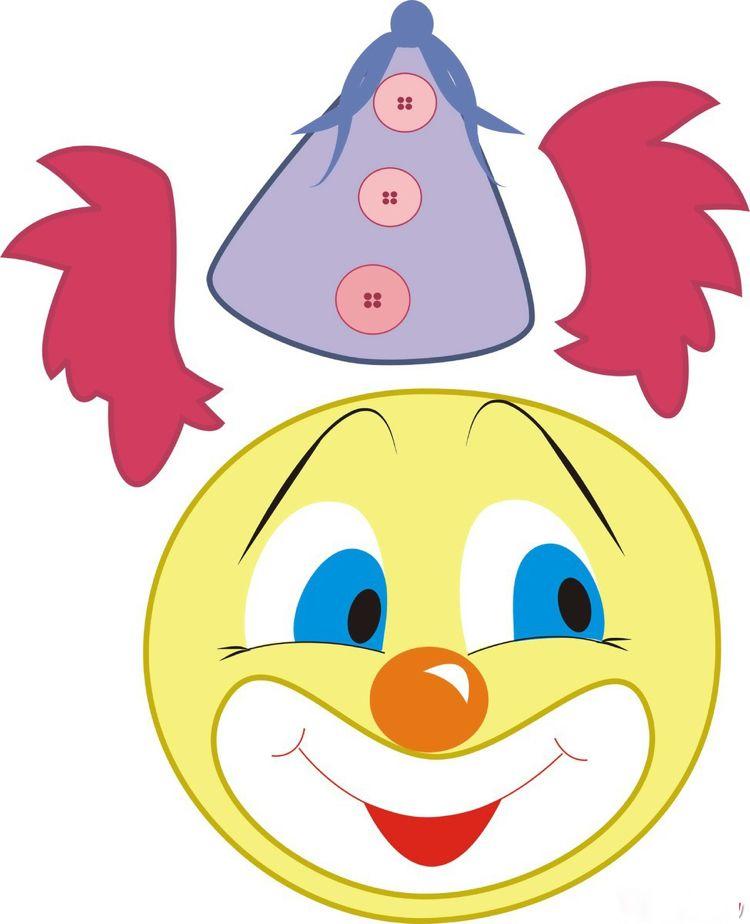 Clown Basteln Kindergarten Vorlage Ausdrucken #basteliedeen #ideas  #fasching #carnival