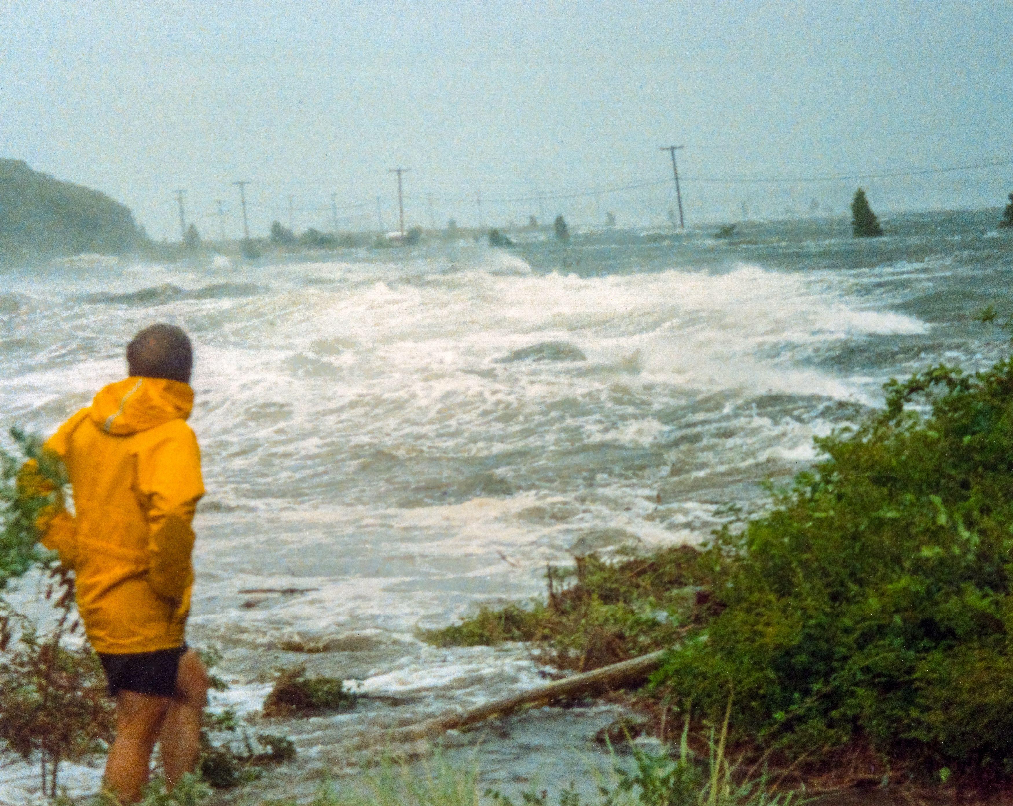 Hurricane Bob Causeway Storm Surge Cape Cod Massachusetts Island