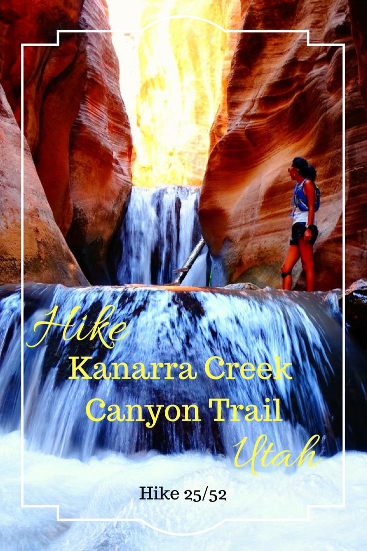A beautiful waterfall hike in Utah. Hike Kanarra Creek Canyon Trail. Read about the most beautiful spot in Utah.