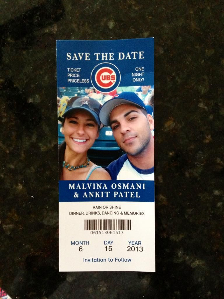 Cutest Save The Dates Ever Ticket Wedding Invitations Baseball Wedding Theme Baseball Ticket