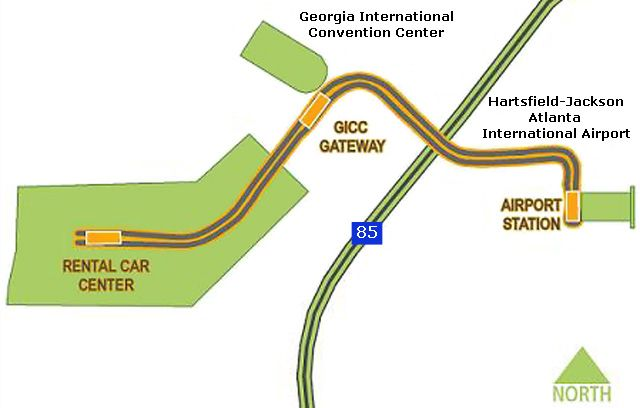 Atlanta Airport SkyTrain Map Atlanta Airport Pinterest