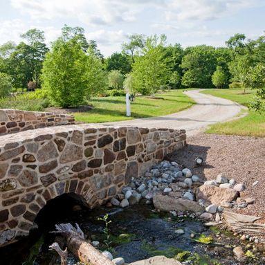 Driveway Culvert Headwall Design Farmhouse Landscaping Driveway Entrance Landscape Design