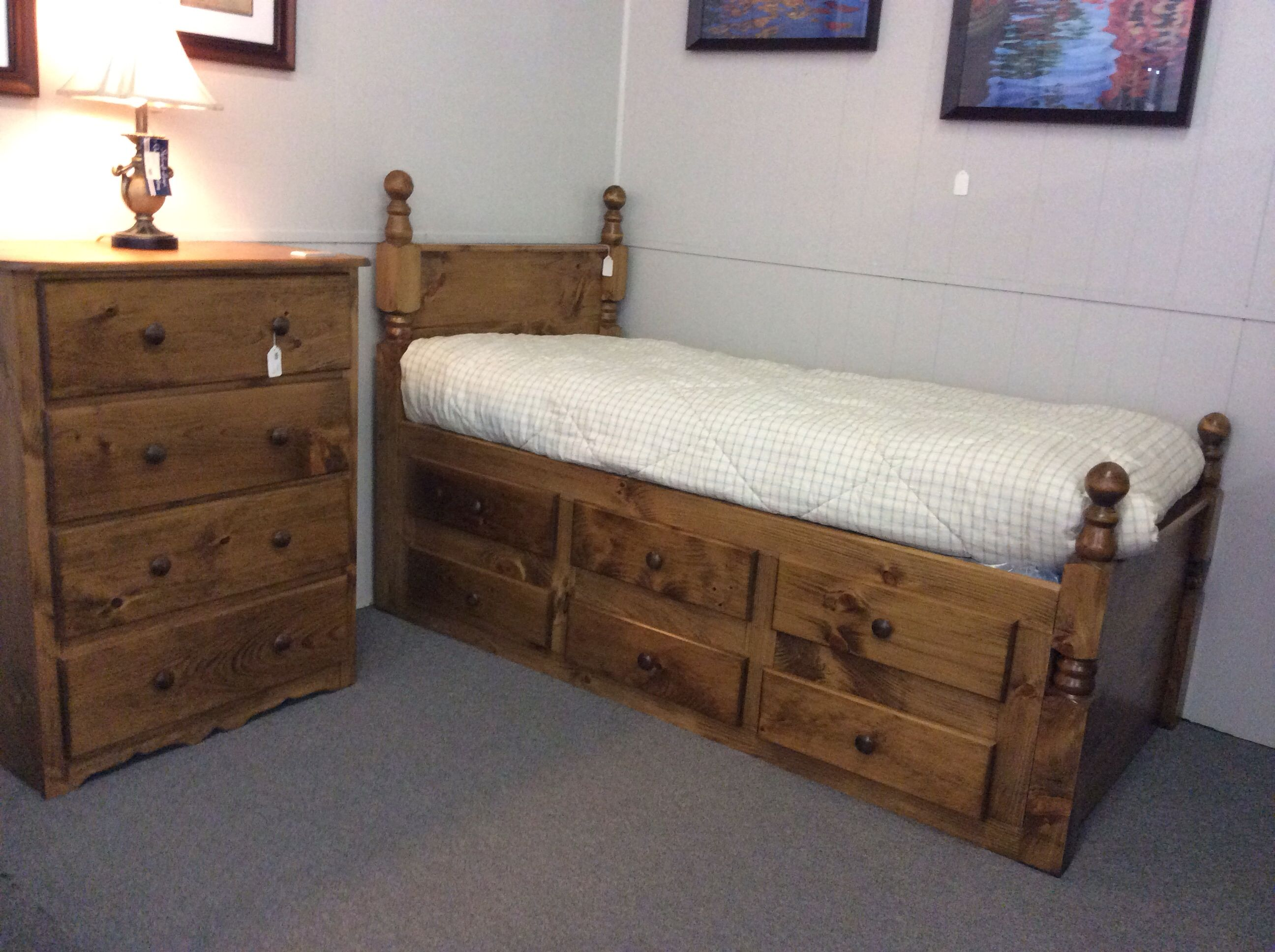 6 Drawer Dresser Bed available in 16 different finishes