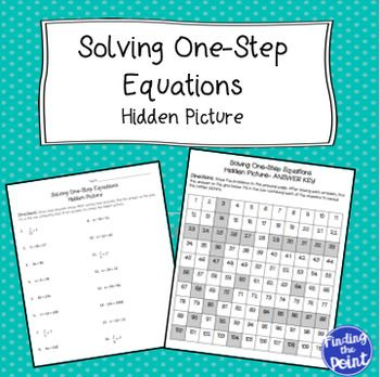 Solving One-Step Equations Hidden Picture | Hidden pictures ...