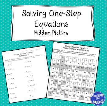 Solving One-Step Equations Hidden Picture | Pinterest | Hidden ...