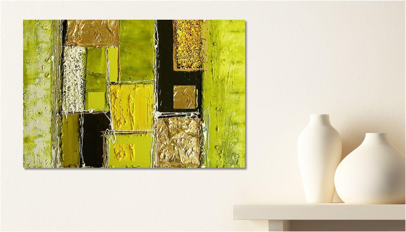 Tableau peinture dessin carr couleur une toile de impression sur - Peinture carre couleur ...