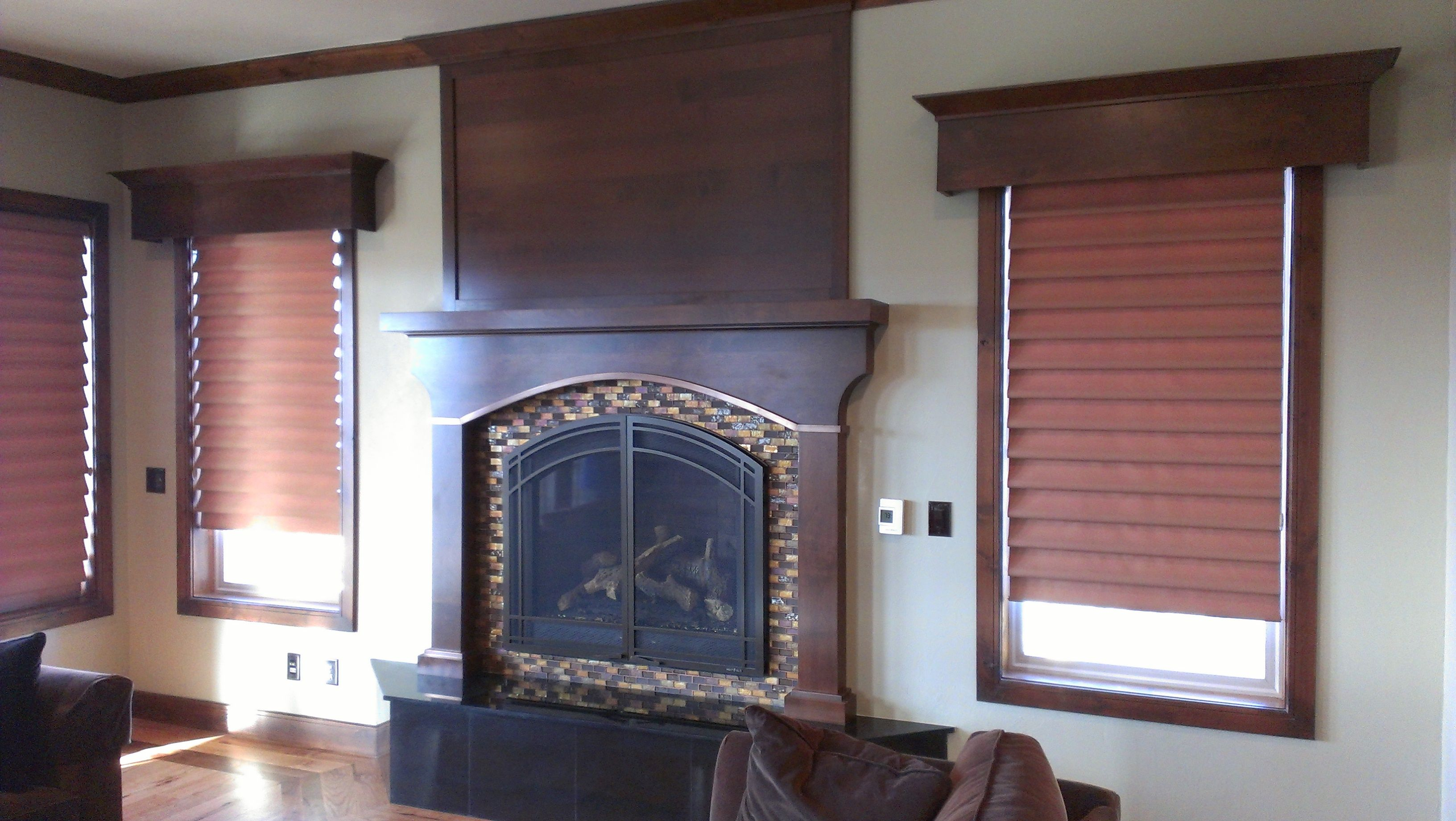 alder mantel with copper edge detail finish carpentry projects