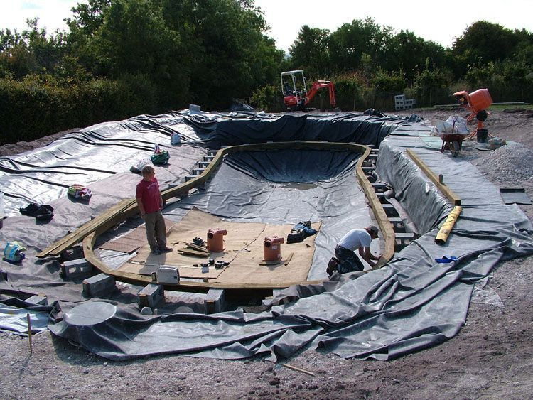 Natural Pool Liners Pool Surround Was Capped With Oak All Of The Pool Equipment Is Water