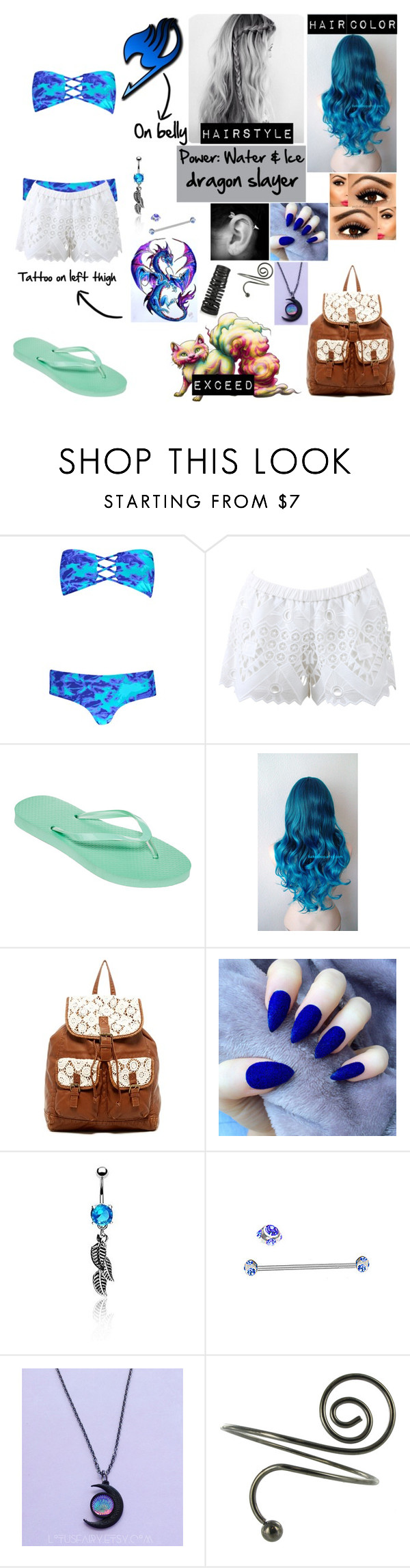"""""""Fairy Tail (OC)"""" by cupcake125 ❤ liked on Polyvore featuring Boohoo, Alexis, Mixit, T-shirt & Jeans, Bling Jewelry, CO and Rick Owens"""