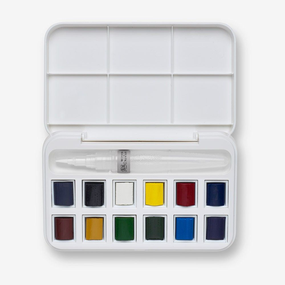 W N Cotman Water Brush Pen And Watercolours Set Pen And