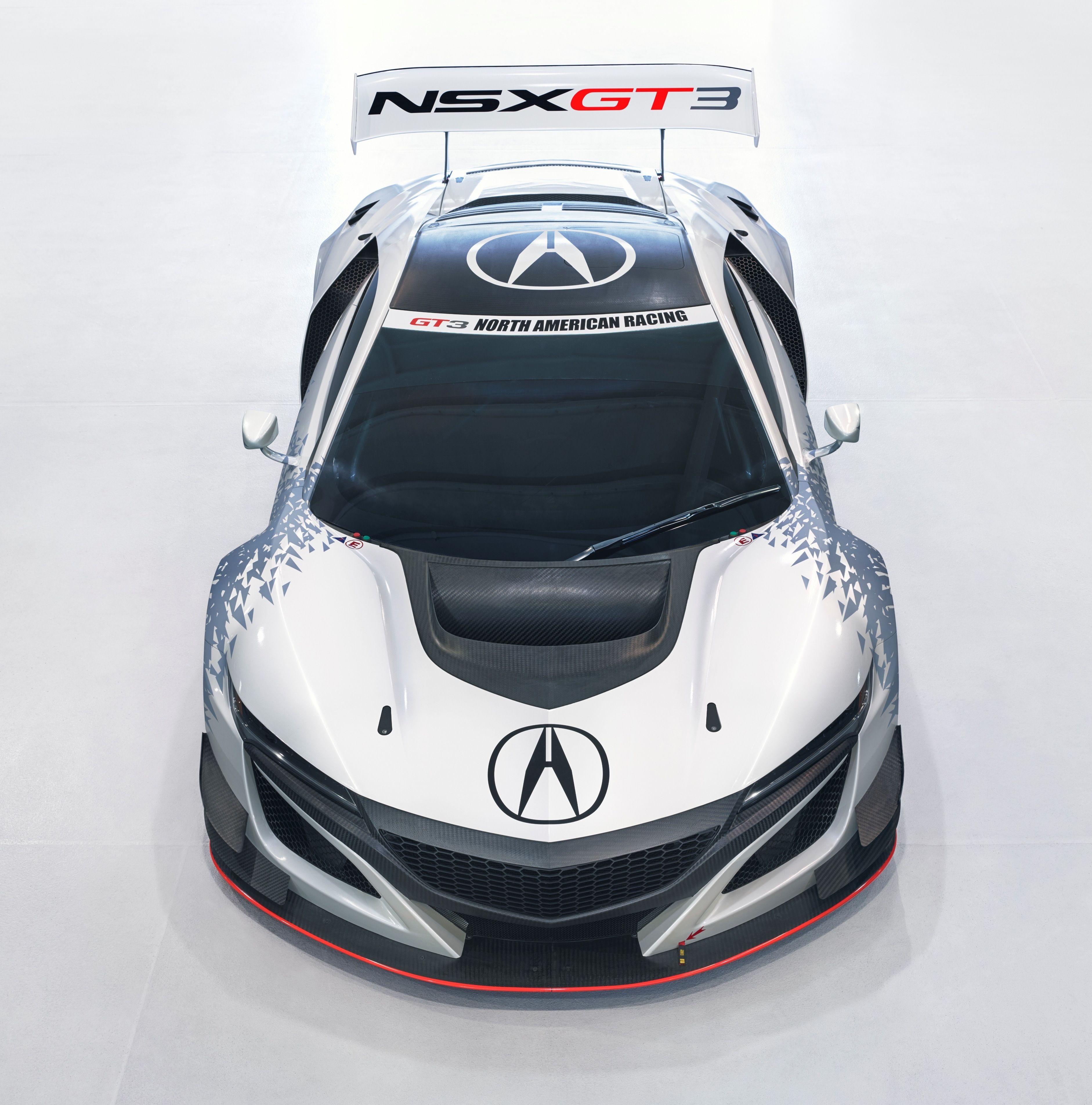 Acura NSX GT3 Race Car Cars Pinterest