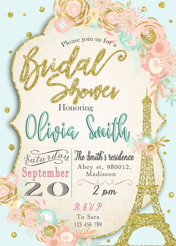 Clipart for Bridal Shower Invitations