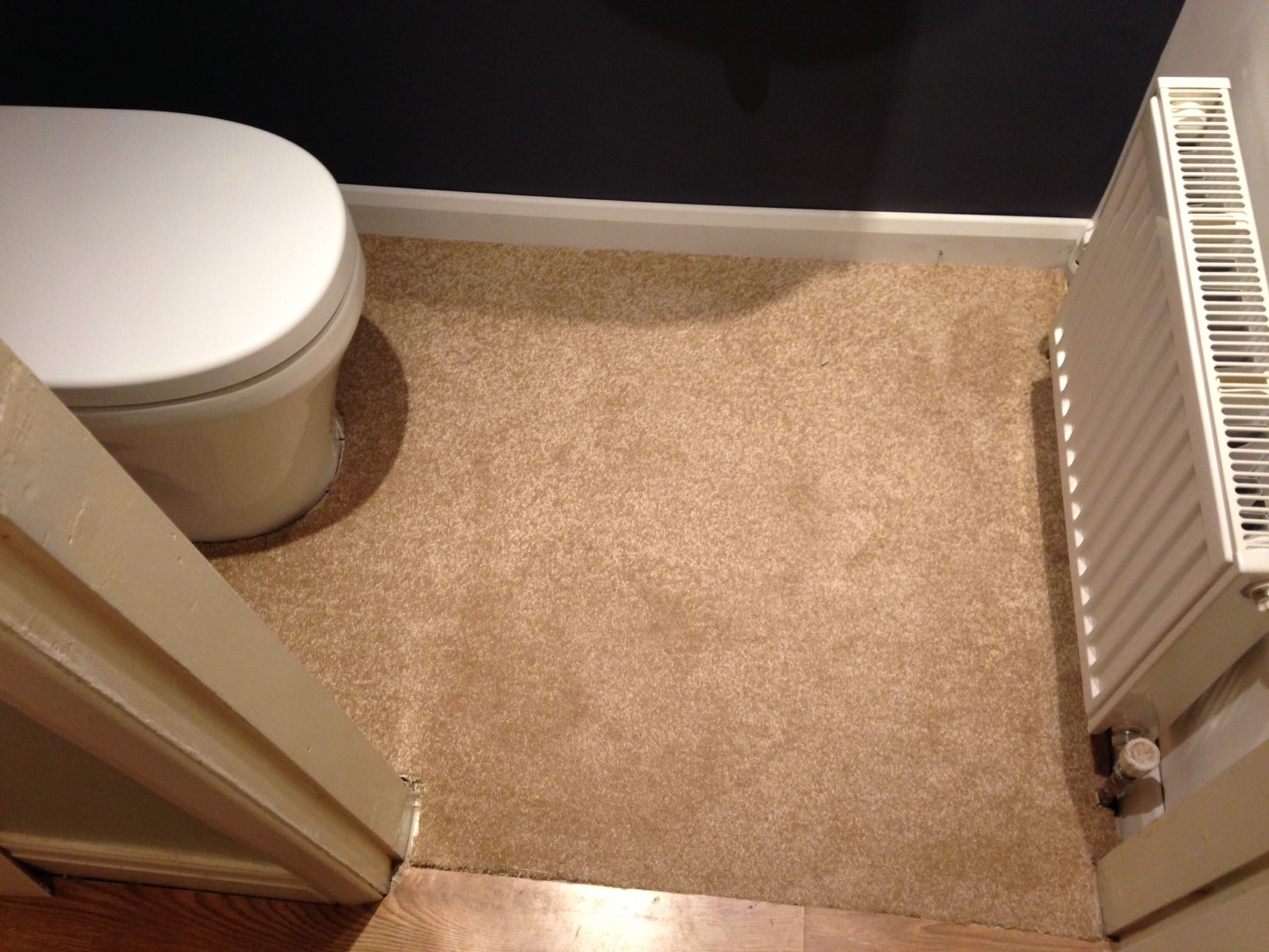 An Off Cut Of Carpet Was Used As A Temporary Floor Covering Until The Hallway