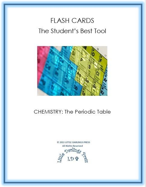 Free Chemistry Flash Cards Periodic Table Elements Periodic - electronegativity chart template
