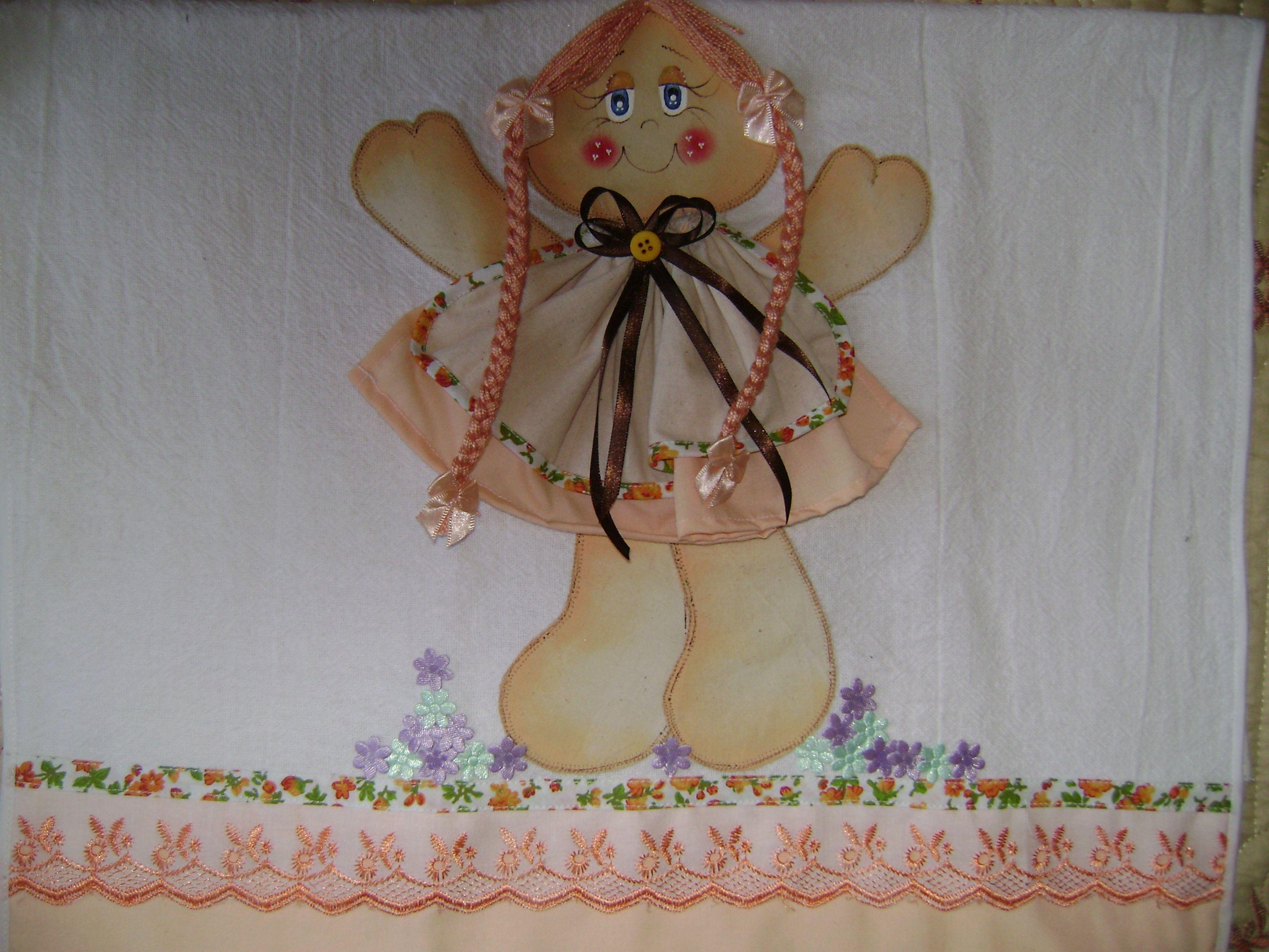 Pano de prato bonequinha
