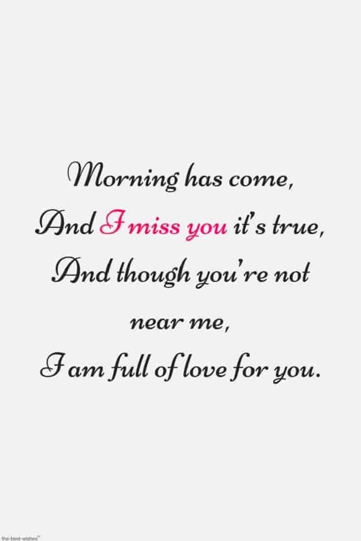 Romantic Good Morning Poems For Him Best Collection Good Morning Poems Missing You Quotes For Him I Miss You Quotes For Him