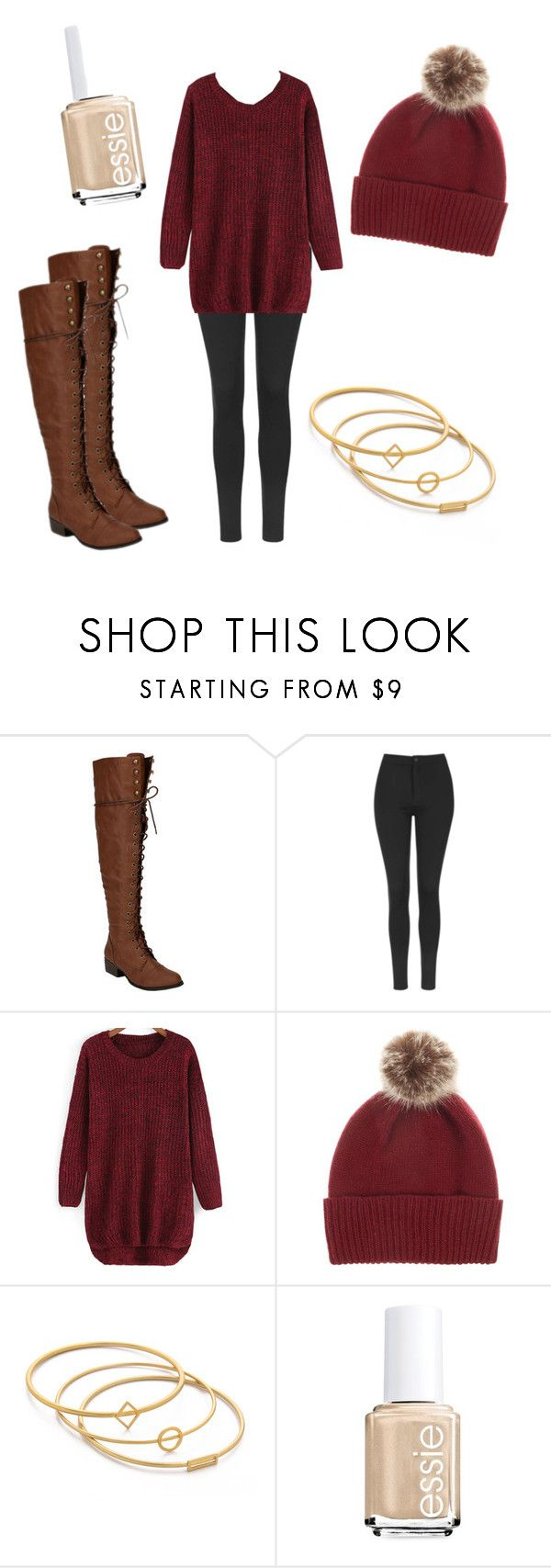 """""""❄️☃❄️☃❄️"""" by lydiaviolet ❤ liked on Polyvore featuring Beston, Topshop, Helen Moore, Madewell and Essie"""