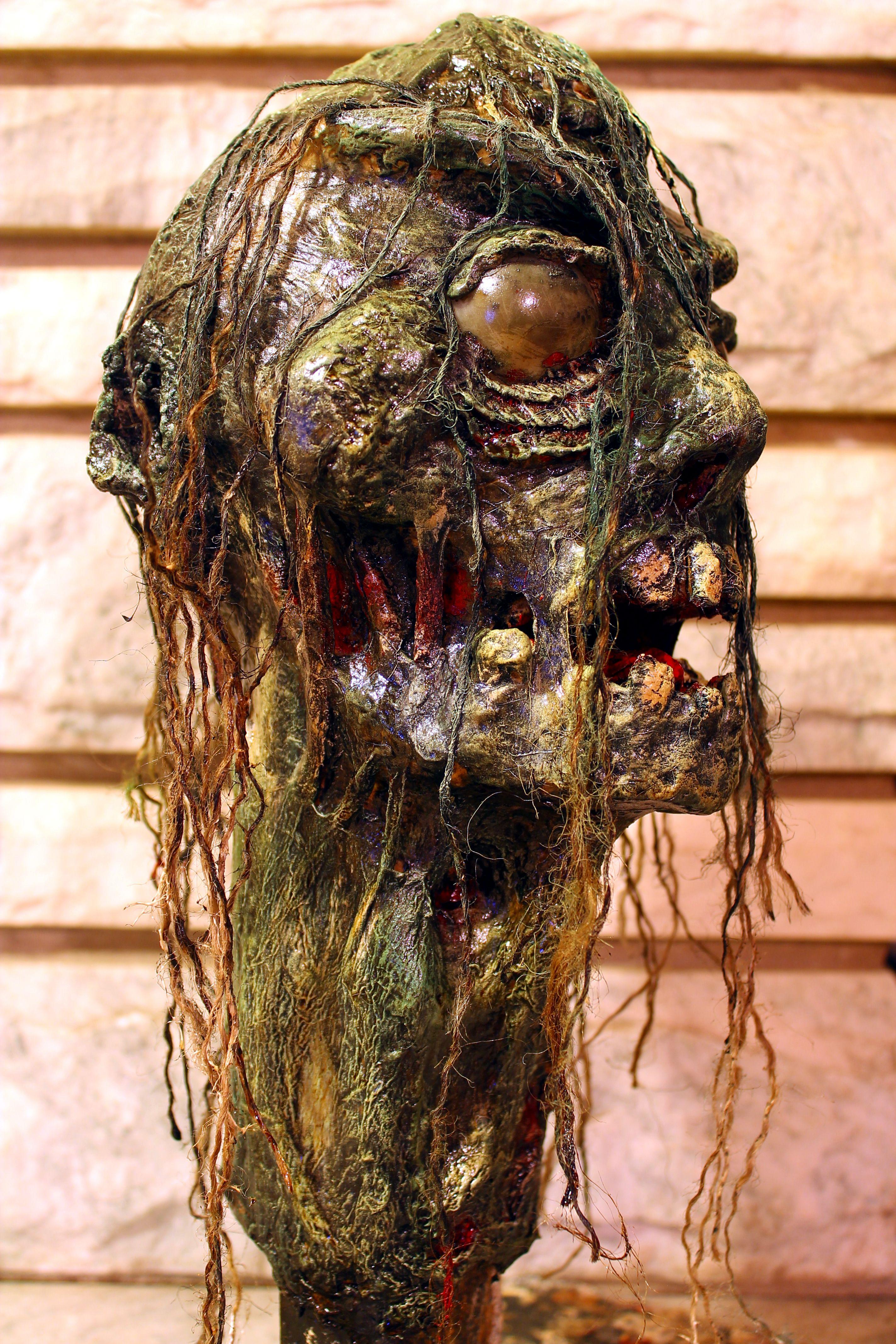 Nefarious Paper mache zombie head