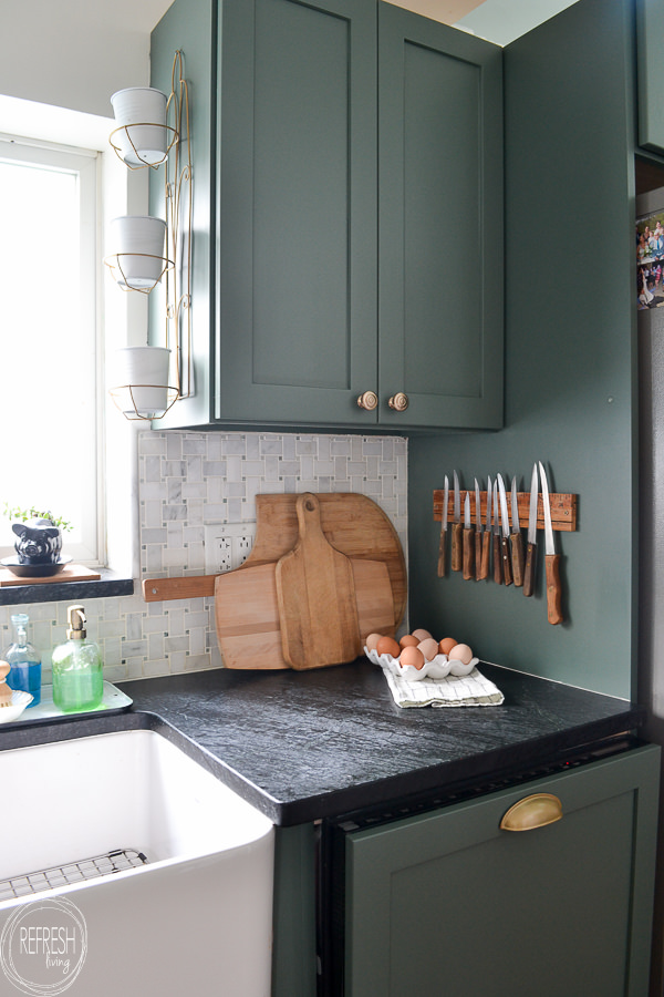 Modern Kitchen with Vintage Touches - Budget Friendly Makeover