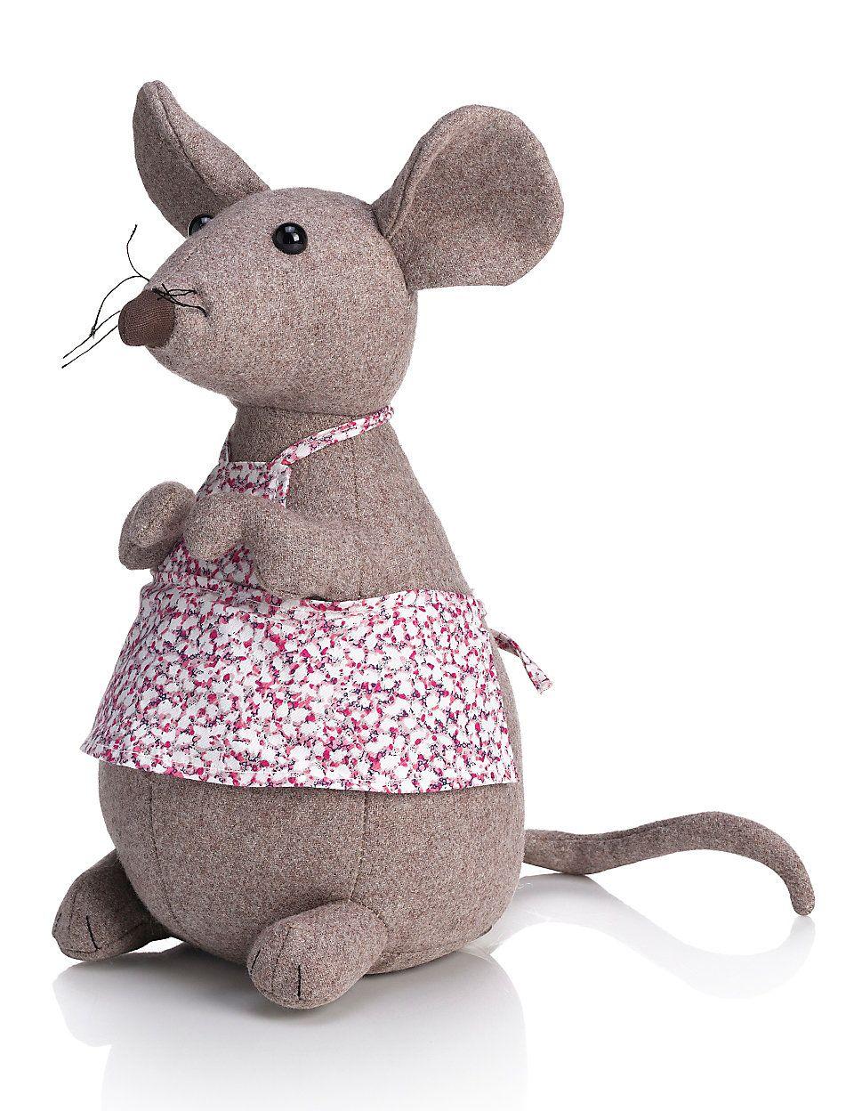 Mrs. Mouse Door Stop | peluches | Ratones, Telas y Muñecas