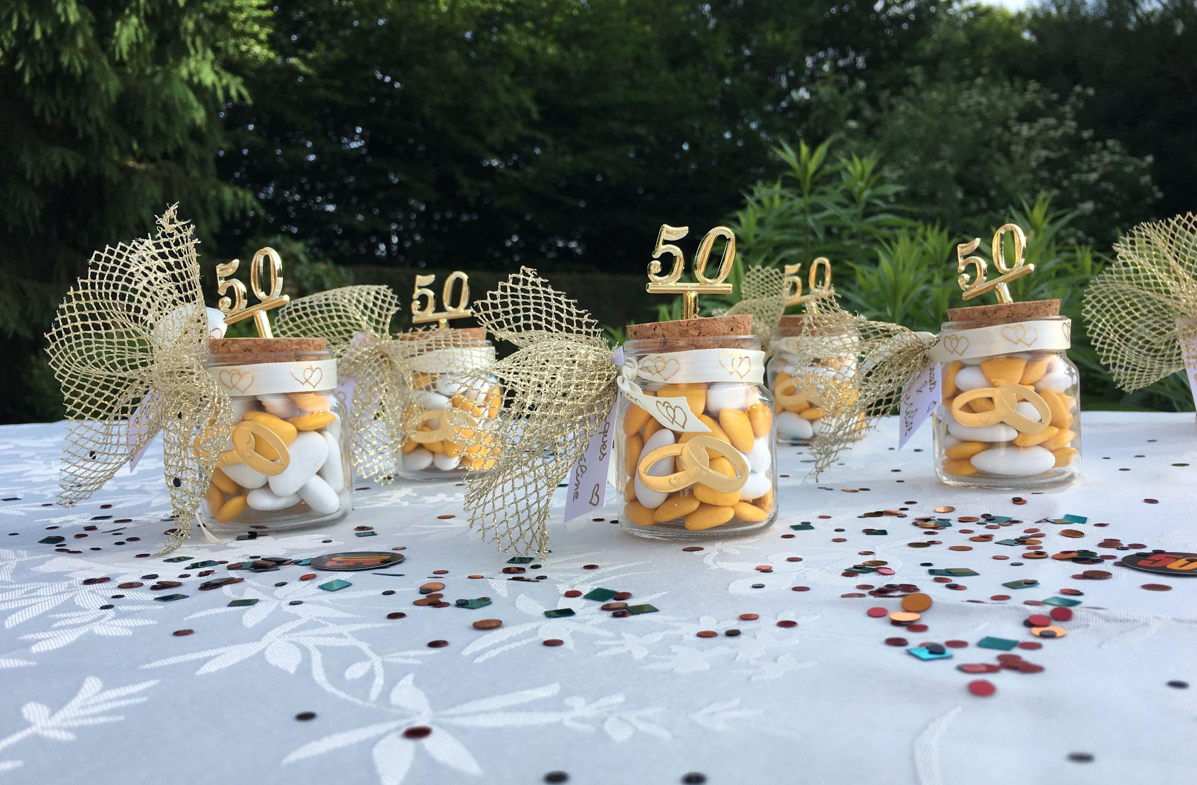 Idée dragées noces d or 50 ans de mariage