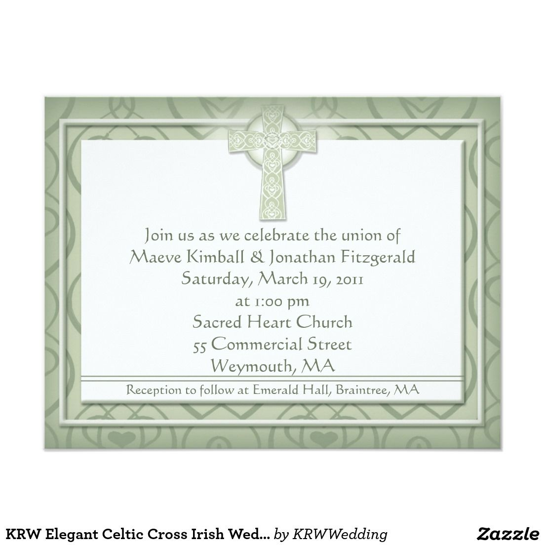 KRW Elegant Celtic Cross Irish Wedding Card | Wedding card, Elegant ...