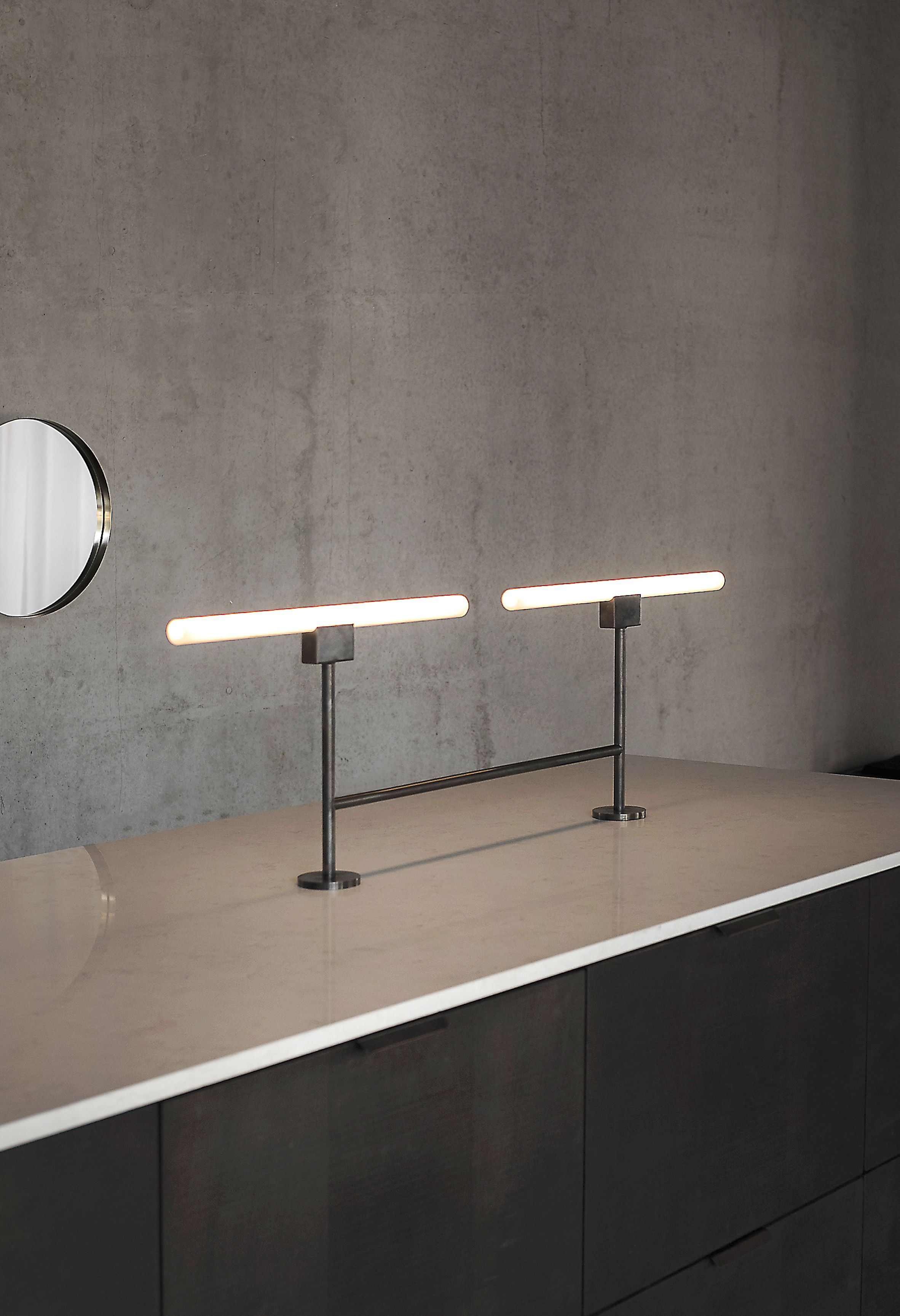 Norm Architects Designs Menu Showroom To Double As Co Working Space Contemporary Table Lamps Lamp Design Track Lighting Bedroom