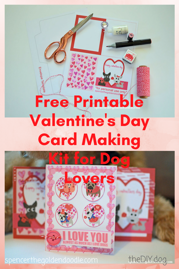 FREE Printable Valentine's Day Card Making Kit for Dog Lovers