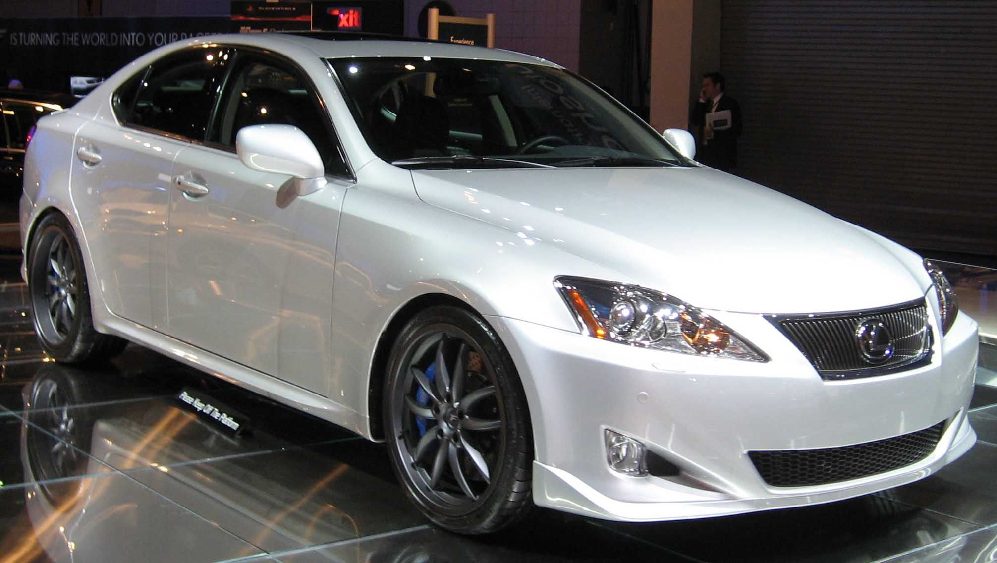 Dream Car Lexus ISF in pearl white with tinted windows and nice rims