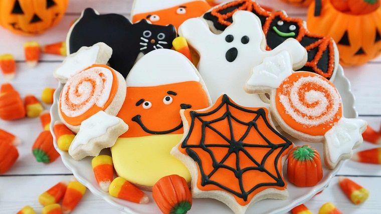 Dolcetti Bambini ~ Ricetta biscotti halloween per bambini zucca fantasma caramelle