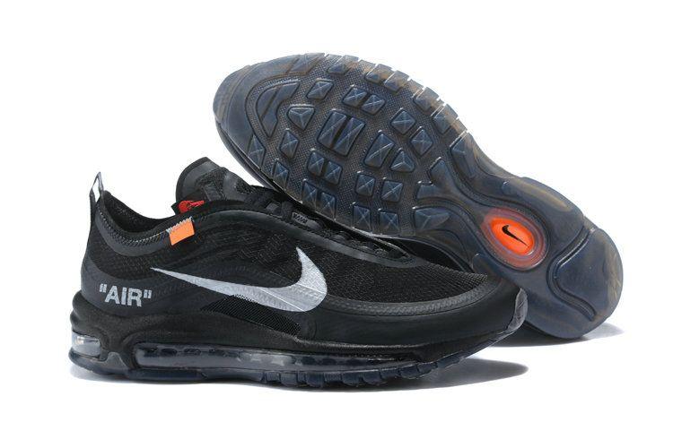 uk availability 287de 7645f Wholesale Cheap Air Maxs x OFF-White x Nike Air Max 97 Black Shoes AWVCWHLM