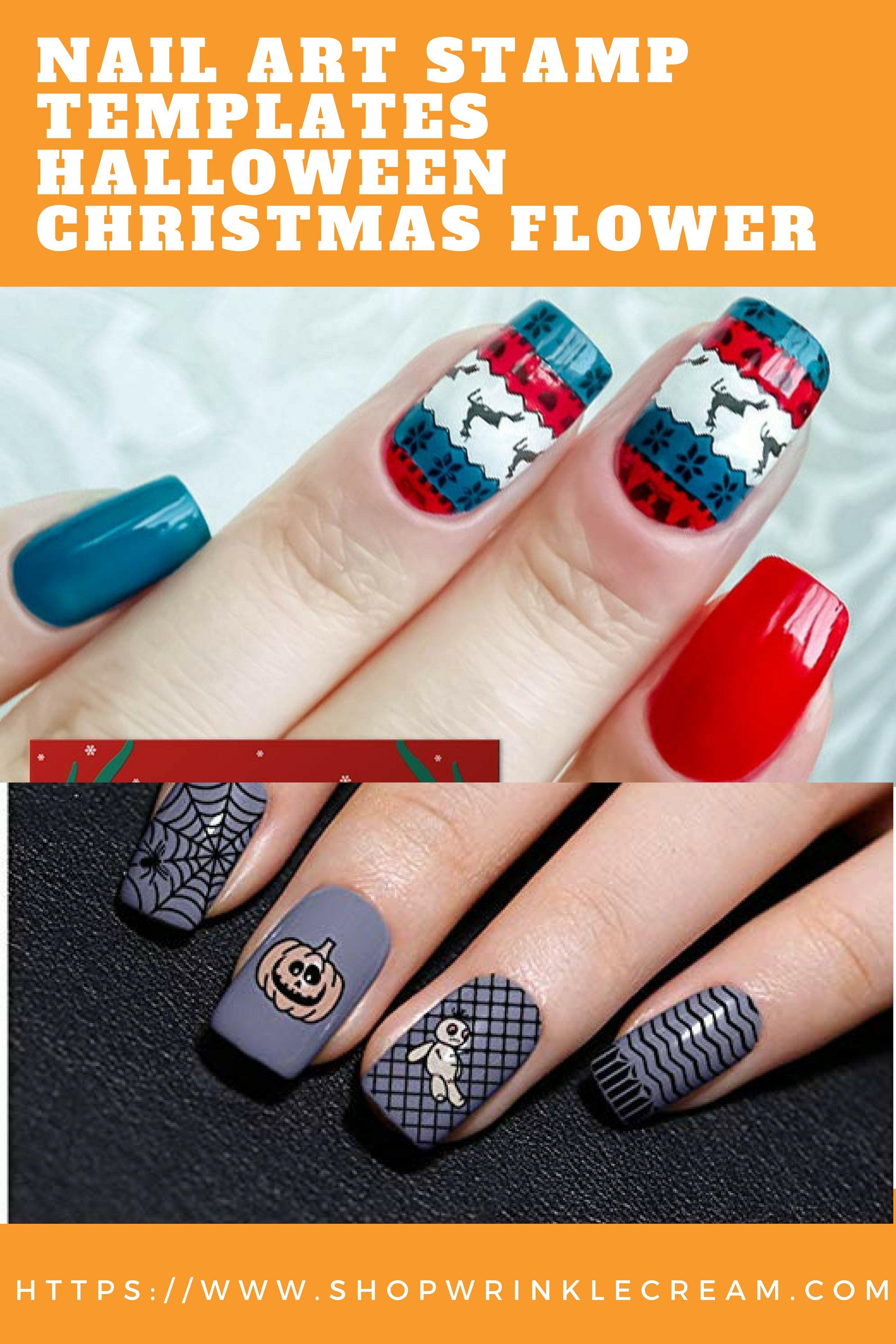 BORN PRETTY Nail Art Stamp Templates Halloween Christmas Flower