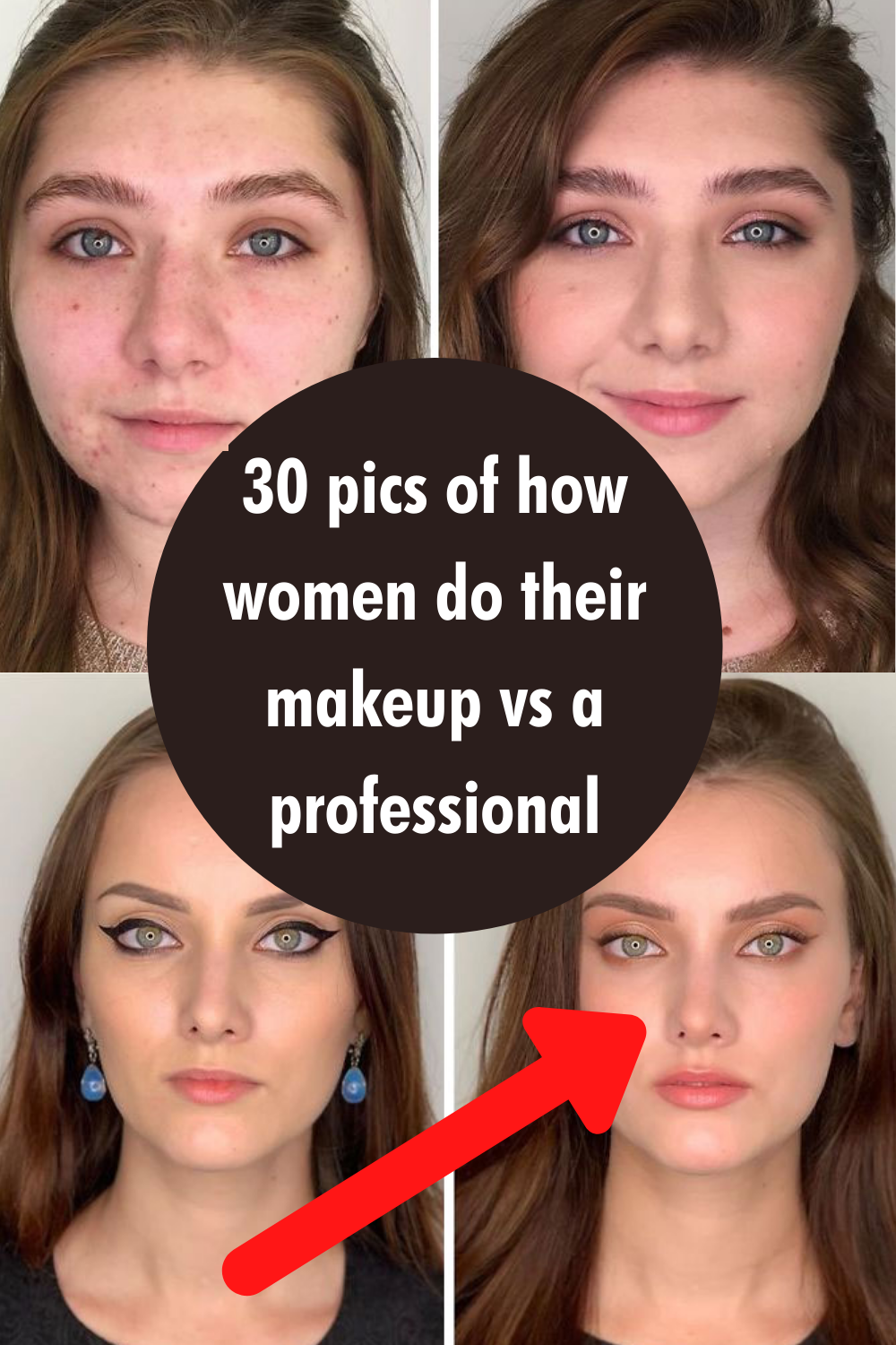 30 Pics Of How Women Do Their Makeup Vs A Professional In 2020 Makeup Beauty Lots Of Makeup