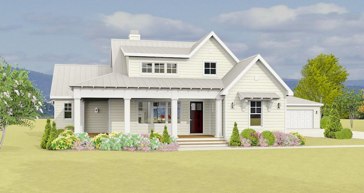 Plan 28919jj Country Farmhouse Plan With Detached Garage Modern Farmhouse Plans House Plans Farmhouse Farmhouse Plans