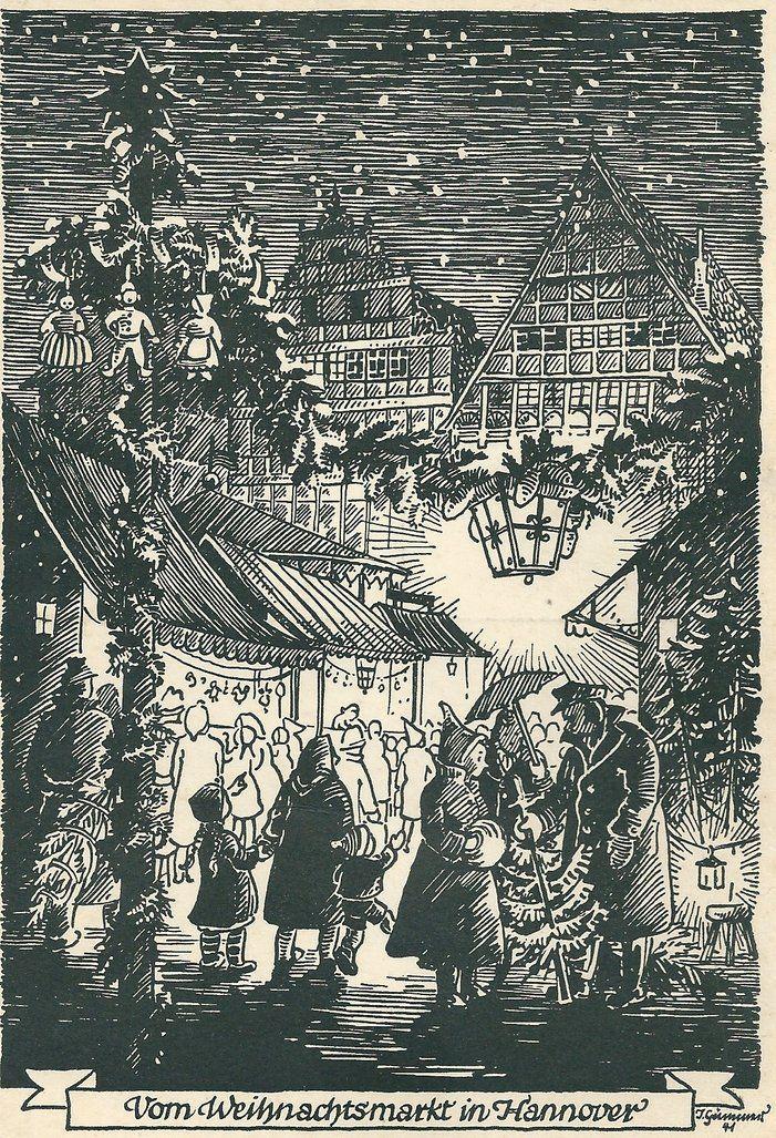 Weihnachtsmarkt W.Weihnachtsmarkt Im Kriegswinter 1941 Nach Einer Zeichnung Von I