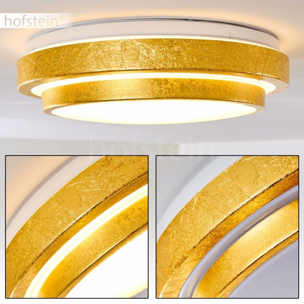 Led Bade Zimmer Decken Lampe Design Goldfarben Flur Wohn Schlaf