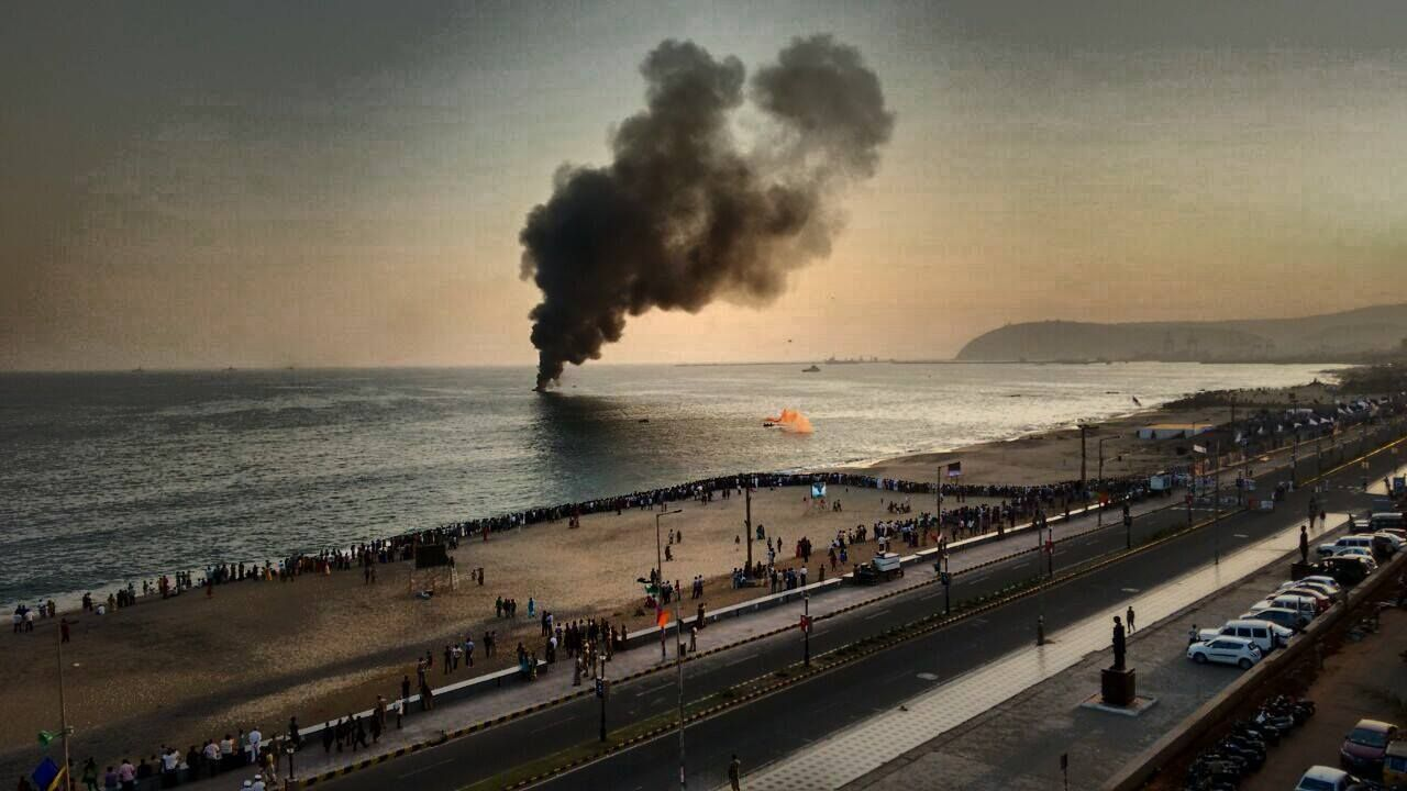 Navy Day Rehearsals In Vizag City Of Destiny Navy Day Beach City