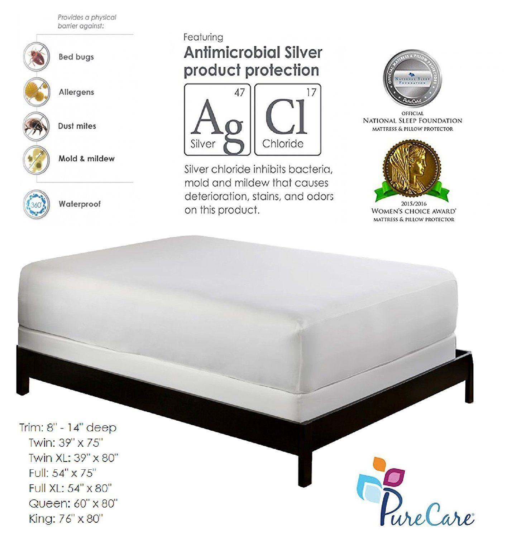 purecare premium mattress protector bed bug proof mattress cover