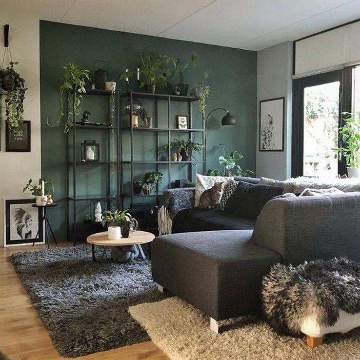 ❤️️ 76 Die beliebtesten Ideen für eine grüne Wohnzimmerwand 6
